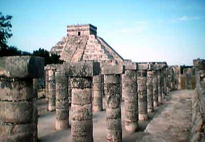 Group of 1000 columns, Chichen Itza, Mexico